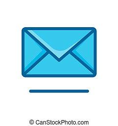 envelope icon vector illustration isolated on white background