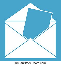 Envelope icon white