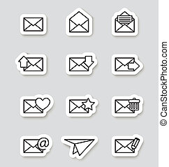 Envelope icons on stikers