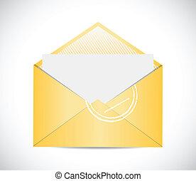 envelope illustration design over