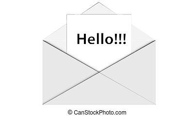 Envelope in a flat design