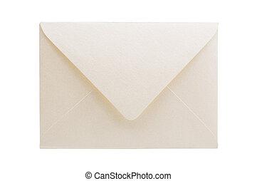 Envelope isolated on white background, studio shot.
