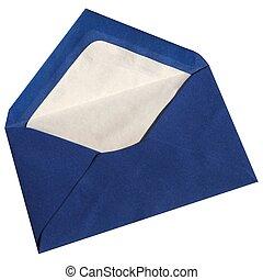 Envelope isolated - Blue envelope isolated on white...