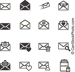 Envelope letter and e-mail vector illustration icon