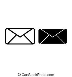 Envelope line and glyph icon. Letter vector illustration isolated on white. Email outline style design, designed for web and app. Eps 10.
