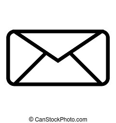 Envelope line icon. Letter vector illustration isolated on white. Email outline style design, designed for web and app. Eps 10.