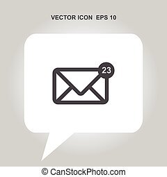 envelope mail vector icon