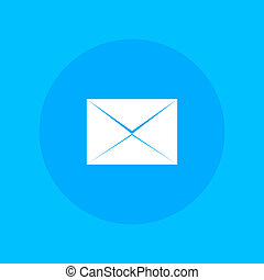 Envelope message in retro style