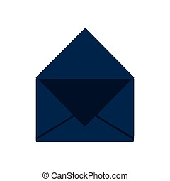 envelope message communication icon. Vector graphic