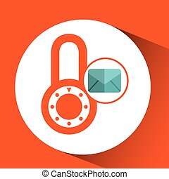 envelope message email padlock security icon graphic