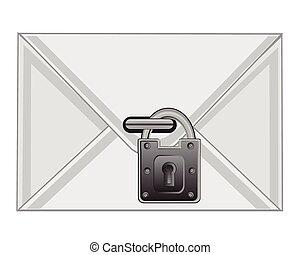 envelope on lock