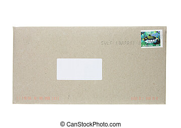 Envelope on White Background