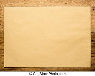 Envelope on wooden close-up