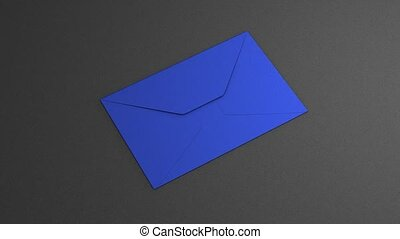 Envelope opening with blank paper pull out.