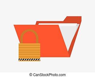 envelope or file folder with safety lock system security design