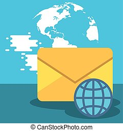 envelope postal service with sphere
