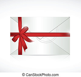 envelope ribbon sign illustration design
