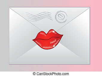 envelope sealed with lips