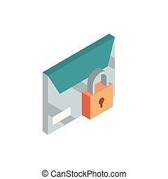 envelope security correspondence postal mail isometric