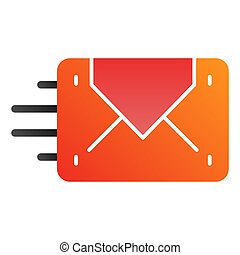 Envelope sending flat icon. Mail color icons in trendy flat style. Letter gradient style design, designed for web and app. Eps 10.