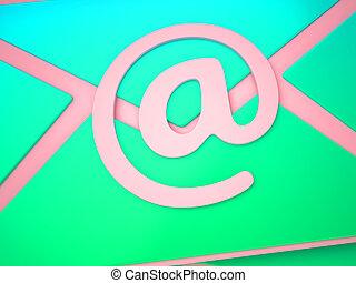 Envelope Shows Correspondence Post Through Laptop Keyboard