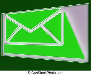 Envelope Sign Button Shows Online Mailbox