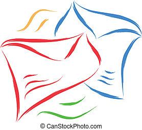 envelope sketch  - envelope vector abstract sketch