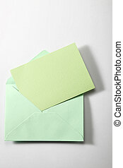 envelope with blank paper isolate in plain background