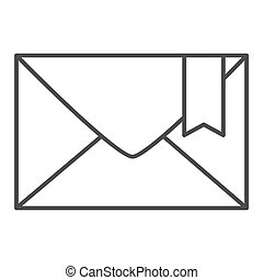 Envelope thin line icon. Email vector illustration isolated on white. Mail outline style design, designed for web and app. Eps 10.