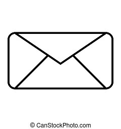 Envelope thin line icon. Letter vector illustration isolated on white. Email outline style design, designed for web and app. Eps 10.