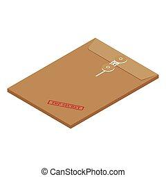 Envelope top secret