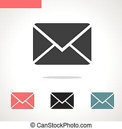 envelope vector icon isolated on white background
