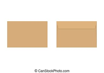Envelope vector icon isolated on white