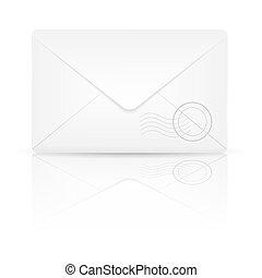 Envelope. Vector illustration.