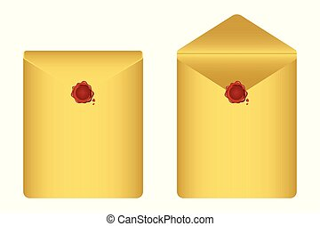 Envelope vector illustration isolated on white background