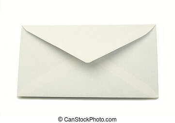 Envelope - white envelope isolated on a white background