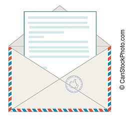 Envelope with a letter, vector