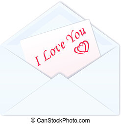 Envelope with a love card.