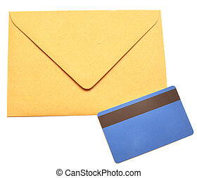 envelope with a plastic card