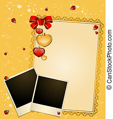 Envelope with blank photo frames