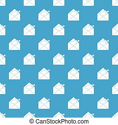 Envelope with bomb pattern seamless blue