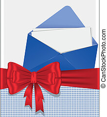 envelope with  bow