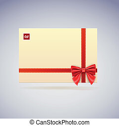 Envelope with bow, gift