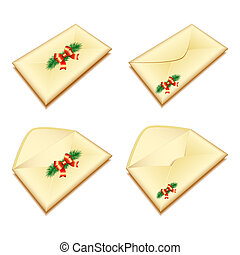 envelope with Christmas seal