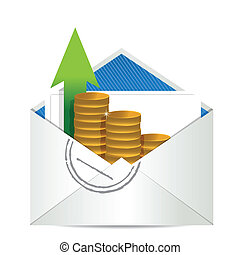 envelope with coins