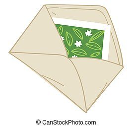 Envelope with greeting card or invitation vector
