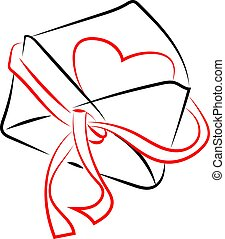 Opened envelope with love hearts opened envelope with red ...