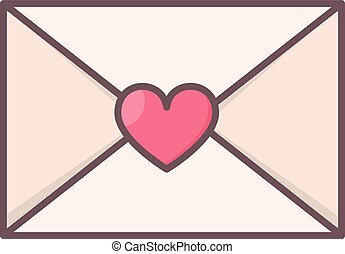 Envelope with heart seal.