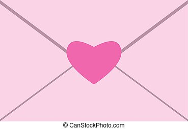 Envelope with heart seal.eps