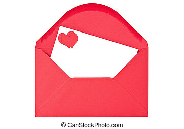 Envelope with love letter